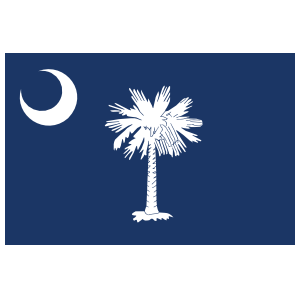 South Carolina Sc State Flag Sticker
