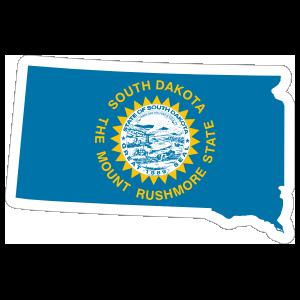 South Dakota Flag State Sticker