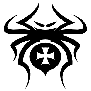 Spider With Cross Design Sticker
