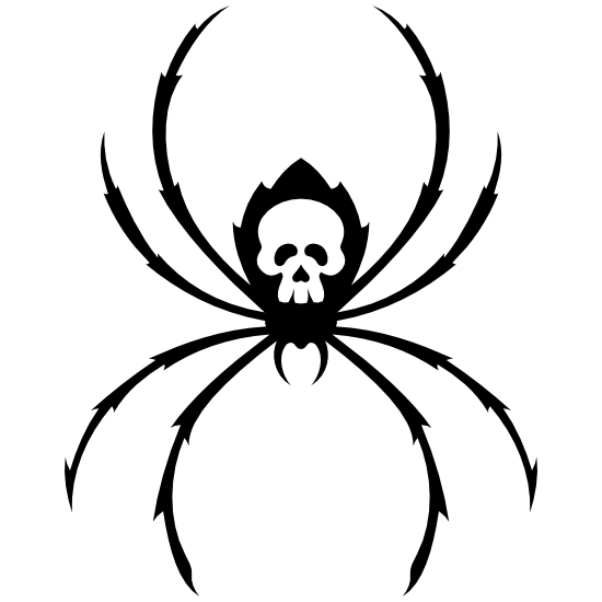Spider With Skull On Back Sticker