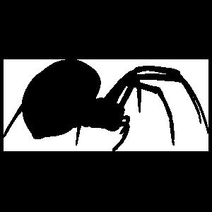 Female Black Widow Spider Sticker