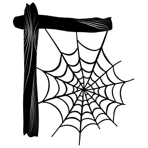 Spider Web On Post Sticker