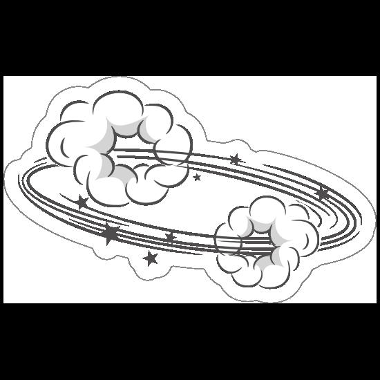 Spinning Cloud Comic Sticker