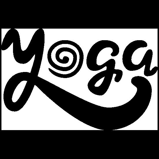 Spiral Yoga Text Sticker