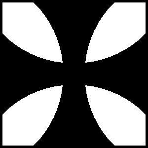 Square Iron Cross Sticker