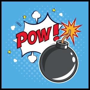 Square Pow Comic Sticker