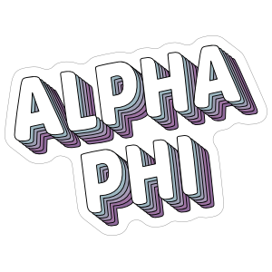 Stacked Alpha Phi Sticker