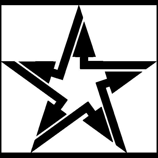 Arrow Star Sticker