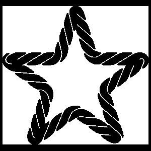 Roped Star Sticker