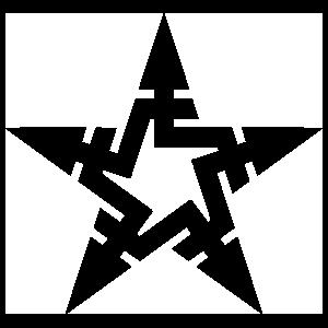 Lines Star Sticker