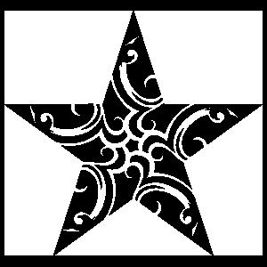 Star With Swirls Sticker