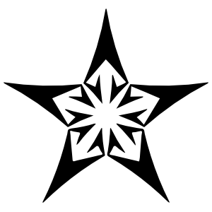Star With Arrows Sticker