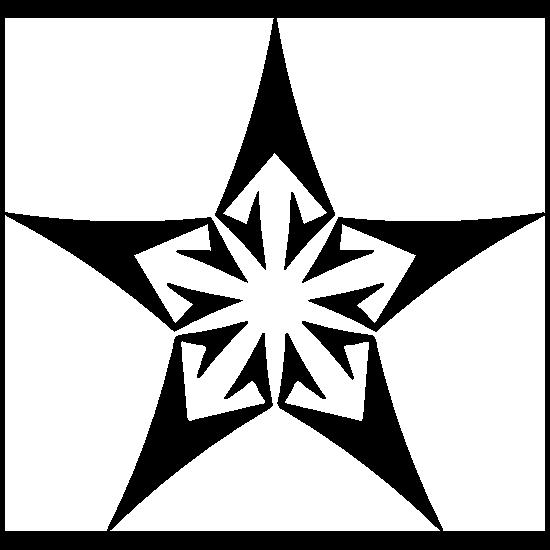 Star With Arrows Sticker