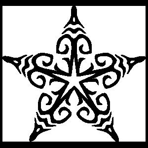 Detailed Star Sticker