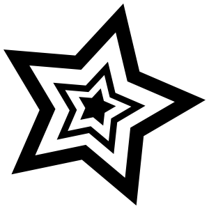 Star Inside Stars Sticker