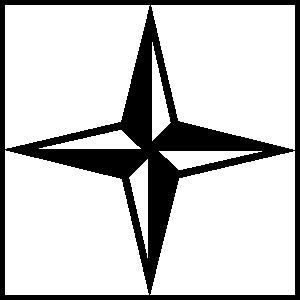 Four Pointed Star Sticker