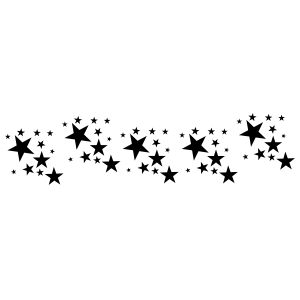 Several Different Sized Stars Border Sticker
