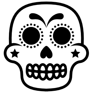 Star Cheeks Decorative Skull Sticker