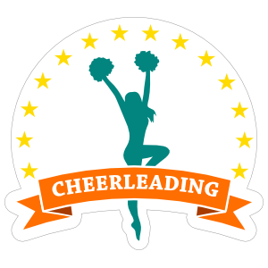 Star Cheerleading Sticker