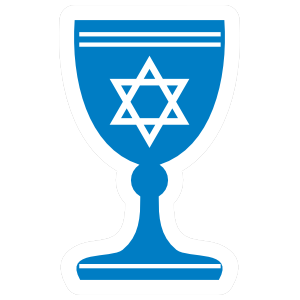 Star of David Chalice Sticker