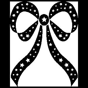 Star Ribbon Bow Sticker
