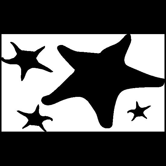 Four Starfish Sticker