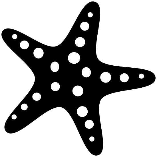 Starfish With Dots Sticker