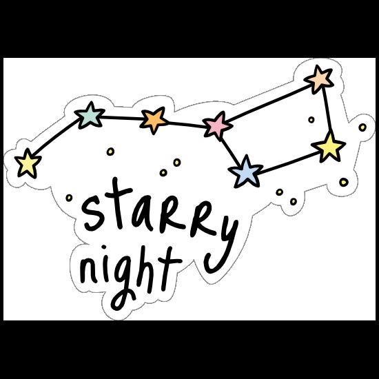 Starry Night Camping Sticker
