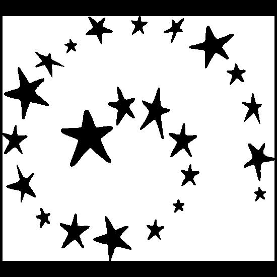 Stars Spiral Sticker