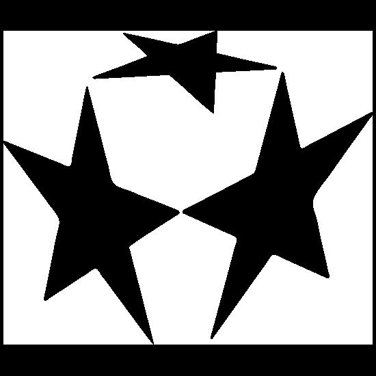 Three Stars Sticker