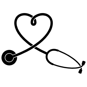 Stethoscope Heart Sticker