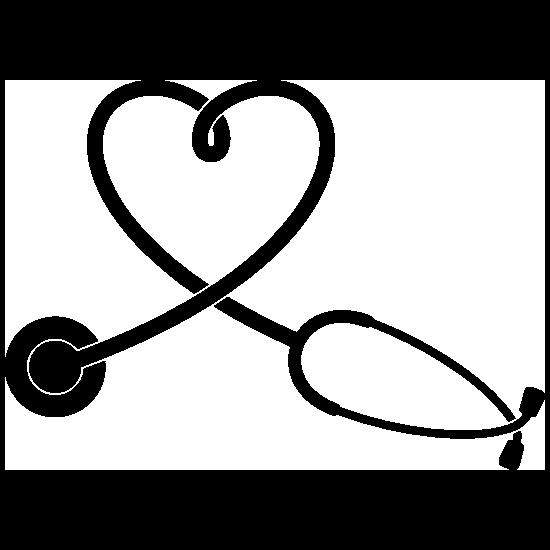 Stethoscope Heart Sticker