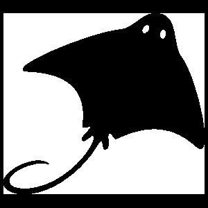 Stingray Manta Ray With Eyes Sticker