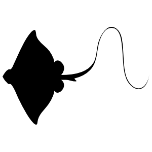 Stingray Manta Ray with Long Stinger Sticker