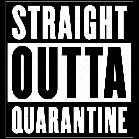 Straight Outta Quarantine Sticker