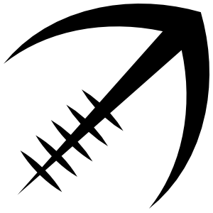 Stylized Football Outline Sticker