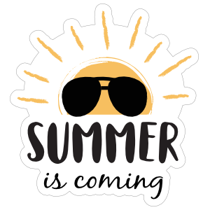 Summer is Coming Sun Sticker