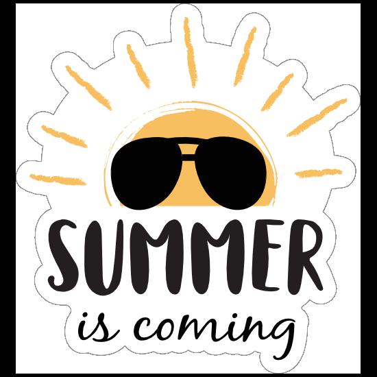 Summer is Coming Sun Sticker