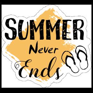 Summer Never Ends Sticker