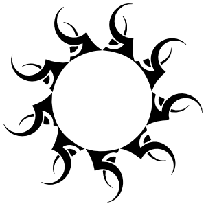 Pointy Sun Sticker