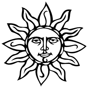 Sun With Face Sticker