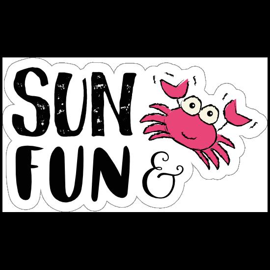 Sun and Fun Summer Sticker