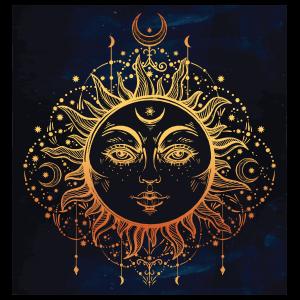 Sun And Moon Goddess Sticker
