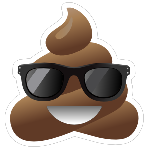 Sunglasses Poop Emoji Sticker