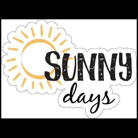 Sunny Days Sun Sticker