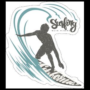 Surfing California Sticker