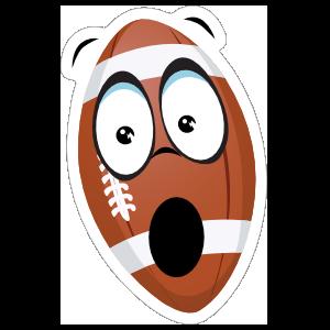 Surprised Cartoon Football Sticker