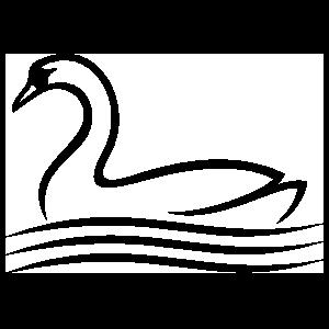 Swan Outline Sticker