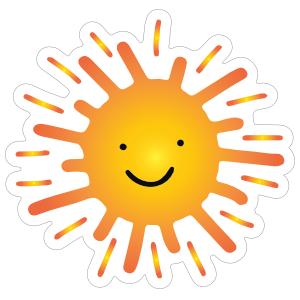 Sweet and Happy Sun Sticker
