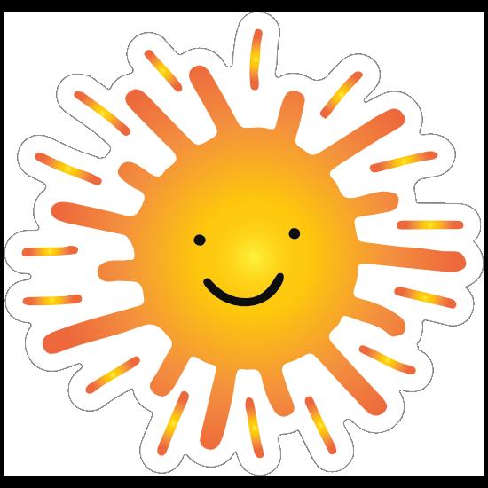 Sweet and Happy Sun Sticker